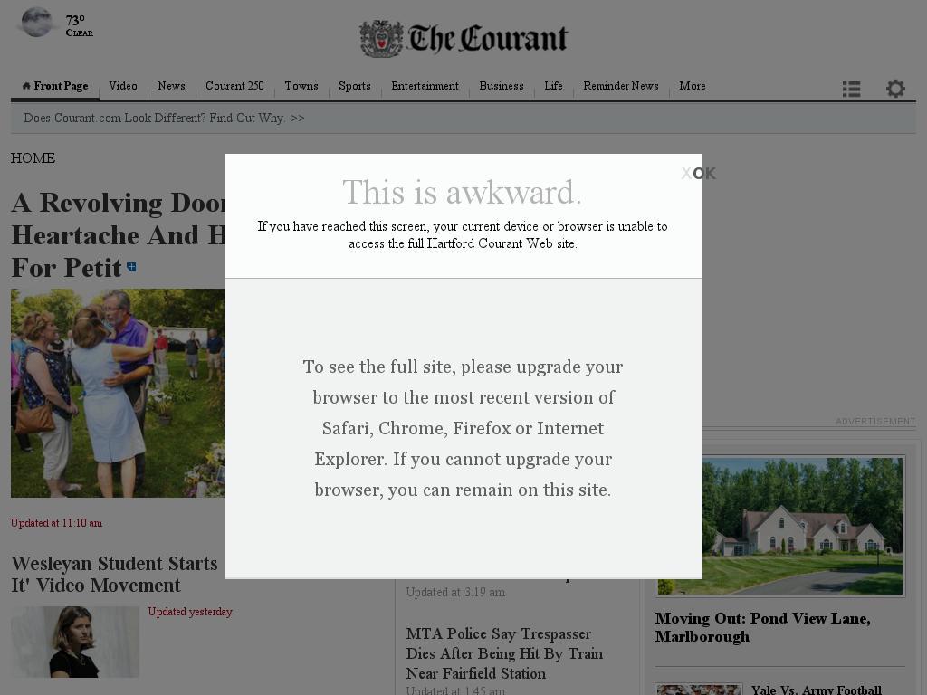 Hartford Courant at Sunday Sept. 28, 2014, 11:10 p.m. UTC
