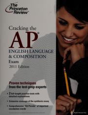 Cover of: Cracking the AP English language & composition exam | Richard A. Hartzell